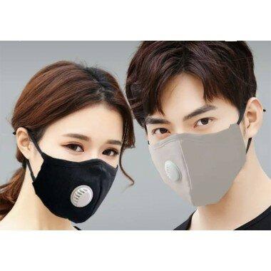 Masque de protection avec valve + filtre 2.5PM